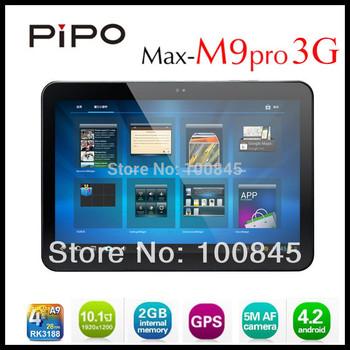 PIPO Max M9pro 3G RK3188 Quadcore Tablet PC 10.1inch IPS Retina pantalla Android 4.2 Ranura para tarjeta de 2 GB de RAM 32GB Bluetooth GPS SIM