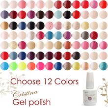 (Escolha de 12 cores) 168 Cores Cristina Soak-off polonês Gel de Longa Duração Gel UV Frete Grátis(China (Mainland))