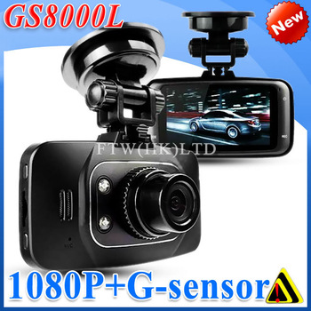 New Original GS8000L / gs8000 Car DVR 1080P Full HD 2.7 inch LCD Screen 170 degree wide angle with G-Sensor HDMI+ 4xdigital zoom