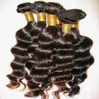 Spiral curl Brazilian loose wave VIRGIN hair weave 3 bundles,deep wavy unprocessed,fast processing and shipping