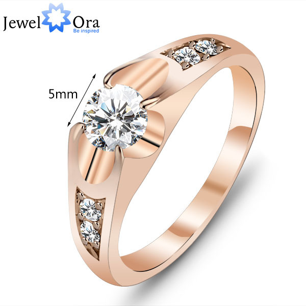 Wedding Ring 18K Gold Plated Polish Rings For Women Fashion Brand Jewelry Antique Golden Rings Accessories (JewelOra Ri100907)(China (Mainland))