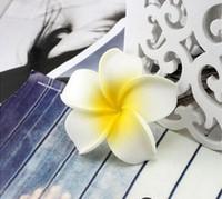 Hawaii foam frangipani, EVA artificial Hawaiian plumeria flower head free shipping
