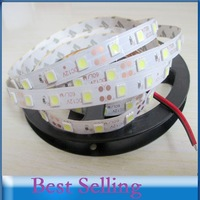 Free Shipping 5m led led strip 5050 Non Waterproof white rgb 5050 60 leds/m strip light DC 12V Flexible led strip Room Ribbon