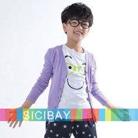 Children Fashion Summer Cardigan Boys Long Sleeve Sweatshirts, 10-Color,100% Cotton  K0479