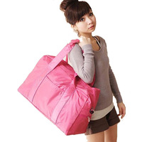 Women Travel Bags 2014 Cute Pink Large Capacity Travel Bags Nylon Practical Sport Travel Duffel Bag Free Shipping