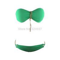 2014 Dropship! Discount Swimwear Fashion Ladies' Swimwear Retro Ladies' Swimsuit Sexy Strapless Bikini Set 1118