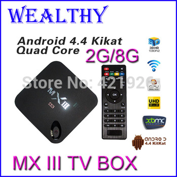2014 New MXIII Android TV Box S802 Amlogic Quad Core XBMC 2G/8G WiFi 4K HDMI Android 4.4 MX iii better than Amlogic MX TV Box