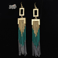 2013 the latest fashion retro long chain tassels women drop earrings party