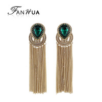 New arrival elegent tassel and rhinestone earring for women
