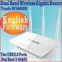 EnglishFirmware Tenda W1800R Dual Band 2.4G&5G Gigabit Wireless Router USB 2.0 ports sharable, 1000M WAN LAN, 3 antennas