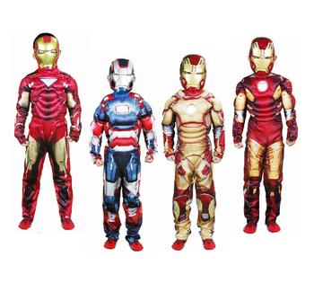Boys Iron Man Customs Infantil Halloween Cosplay Ironman costume for Child Disfraces Fantasia Pelicula Disfraz Carnival