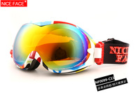 Free shipping clearance promotion new ski goggles multip-color/dual lens uv-protection anti-fog Winter snow ski goggles glasses