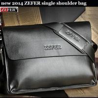 NEW brand men 2014 ZEFER computer bag, casual messenger bag, briefcase, leather bag, 2 color optional,Wholesale and retail
