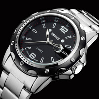 relogio masculino Luxury Brand Oirignal Quartz Wristwatches With Date Full Steel Business Casual Watches Men Watch