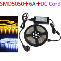 5050 LED strip waterproof 12V SMD 5M/roll Flexible Strips 60LEDs/M Warm White Led Strip S0113-01