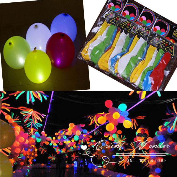 Freeshippig 50 pcs/lot Led Flash Balloon , Christmas gift,Wedding Birthday and Party Decoration, 5 Color light up balloons(China (Mainland))