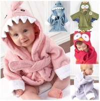 LS028 Free shipping unisex baby bathrobe animal hooded boy girl/cotton towel kid's robe/children infant bathing robe/Little Sun