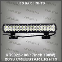 "18"" 108W Double row 10-30V  CREE  TRUCK LED  LIGHT BAR  LED OFFROAD LIGHT BAR  LED WORK LIGHT BAR FOR SUV 8600 Lumen KR9022-108"