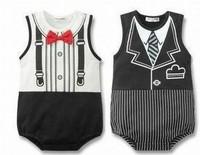 Best Price Gentlement baby romper infant kids Romper free shipping
