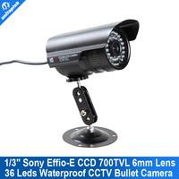 "700TVL 1/3"" Sony  EFFIO-E Super HAD CCD II  of  IR CCTV Security Camera Bullet CCTV Camera"