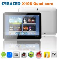 CREATD X10S 10inch tablet pc android 4.2 IPS screen HDMI 3G WCDMA/quad core/GPS/Bluetoth/ATV/FM/dual camera/dual sim