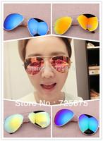 16 Colors Free Shipping 2014 Sale Brand Designer Green Mirrored Sunglasses Men Oculos original  Sunglasses Women Glasses Hot