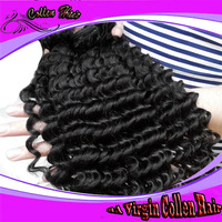 Free Shipping Cost!! AAAAAA double weft brazilian hair curly hair extension