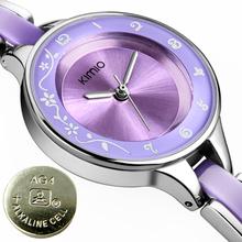 Gorgeous! Ceramic KIMIO Brand Ladies Quartz Watch Fasion Wristwatch for Women Female Bracelet Hours K489M(China (Mainland))