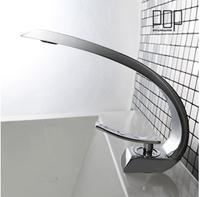 B&R Free Shipping single handle modern chrome bathroom vessel sink lavatory basin faucet  mixer tap F6101-1