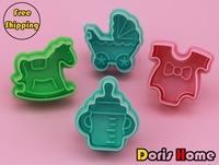 FREE SHIPPING baby series hobbyhorse /baby stroller / feeder /baby clothes cookies mold plunger cutter