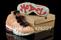"Free shipping, 2013, the basketball shoes for men, ""Charles barkley Max new June (glow in the dark) 1:1 shoes, size 8 and 12"