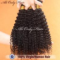"100%Brazilian Kinky Curly Virgin Hair Weaves 4Pcs Lot,Brazilian Curly Virgin Hair Natural Black Hair 8""-30""Human Hair Extensions"