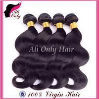 """Malaysian Virgin Hair Body Wave Extension 8""""-30""""Malaysian Natural Black Hair 4Pcs lot Fast Shipping,100%Human Hair Weaves No Mix"""