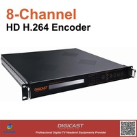 8-Channel HD H.264 Encoder(DMB-8820),1080P Full HD,  ASI and TSoIP out via Gigabit Ethernet, 8*SDI or HDMI input optional