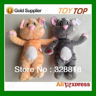 Free Shipping Plush and Stuffed Talking Toy Cat and Speaking Tomcat,The Animal,Repeat Any Language,In 10 Seconds 35cm,1pc(China (Mainland))