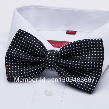 New 2013 solid color bow Tie for men Solid Color Plain Necktie most fashionable style wholesale