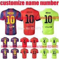 MESSI NEYMAR JR SUAREZ A INIESTA 2015 neymar jr red yellow black messi Soccer Jerseys spain SUAREZ football uniforms t shirt
