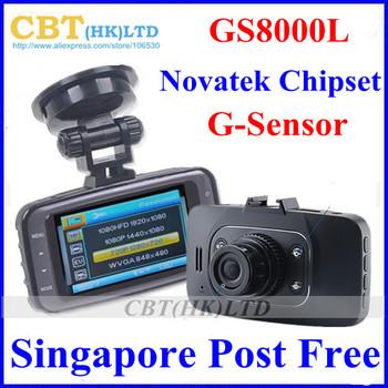 SG Post Freeshipping Original GS8000LCar dvr  HD 1920x1080P 25fps Camera Recorder 2.7 inch G-Sensor HDMI Novetak cpu not Sunplus
