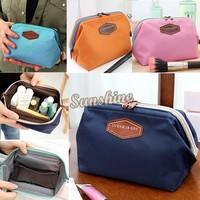 2014 New Cute 4 Colors Women's Lady Travel Makeup bag Cosmetic pouch Clutch Handbag Casual Purse #2 SV002470